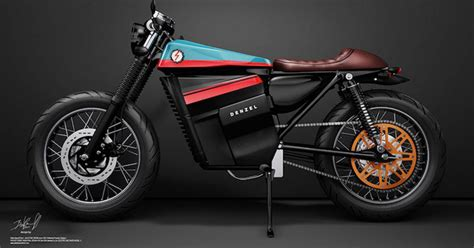 desain gerobak sepeda motor unik seniman barcelona desain sepeda motor modern