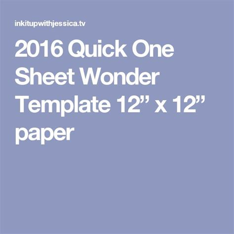 2016 Paper Cpr Card Template by 2016 One Sheet Template 12 X 12 Paper