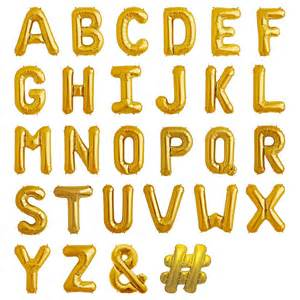 balloon letters 16 inch in gold and silver by bubblegum