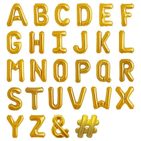 Letter Balloons Balloon Letters 16 Inch In Four Colours By Bubblegum