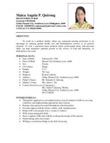 Resume Sample Format In The Philippines by Comprehensive Resume Sample For Nurses