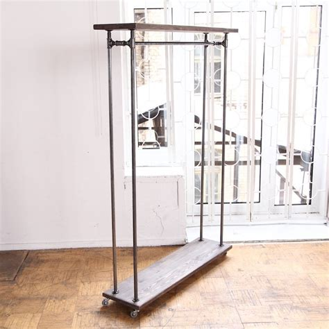 rustic industrial clothes rail rack cosywood co uk