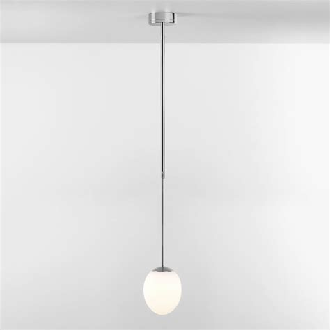ip bathroom lights astro kiwi ip44 led bathroom pendant light in chrome
