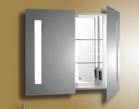 mirrored bathroom cabinet with lights