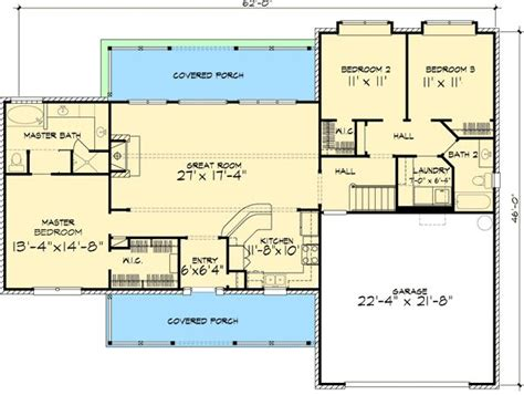 ranch floor plans with bonus room plan 46025hc stone ranch home plan house plans bonus