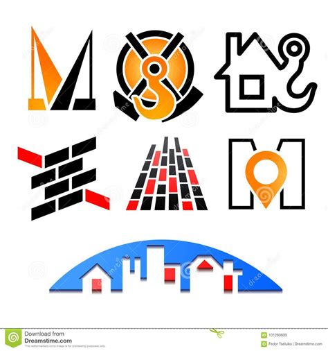 fashion colour graphics colourful language colorful logotype template set stock illustration image