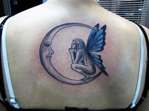 hada mirando la luna tatuajes para