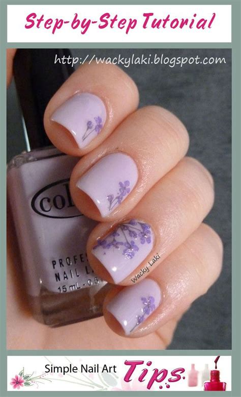 nail art tutorial on dailymotion 1000 images about dried flower nail art on pinterest