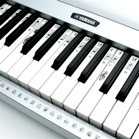 printable piano keyboard stickers piano stickers for 49 61 76 88 key keyboards
