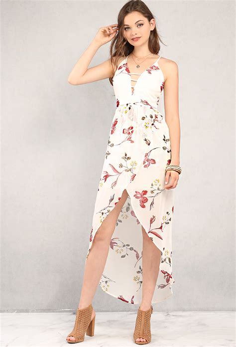 Id 1838 Flower Dress floral high low dress shop dresses at papaya clothing
