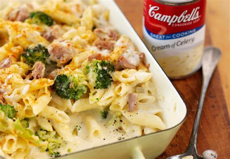 tuna and broccoli pasta bake recipe top 6 of celery soup recipes cbell s uk