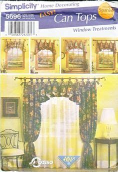 easy simplicity tie up shades window treatment curtain home window drapery valance curtain jabot swags sewing patterns