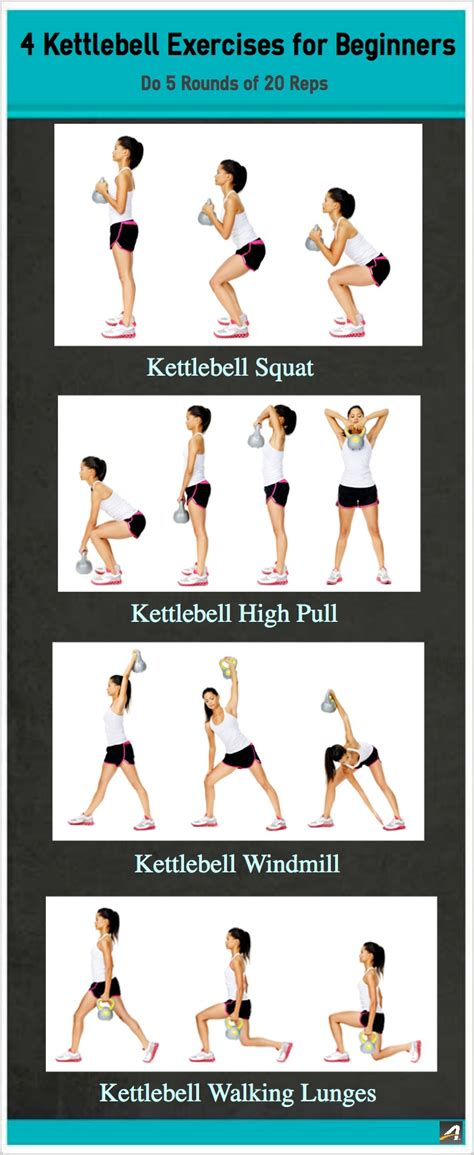 4 kettlebell exercises for beginners active