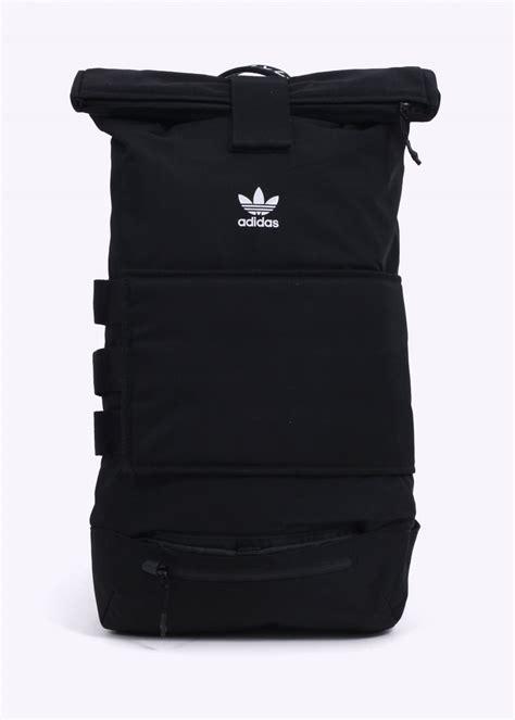 Backpack Adidas Apparel adidas originals apparel rollup backpack black bags