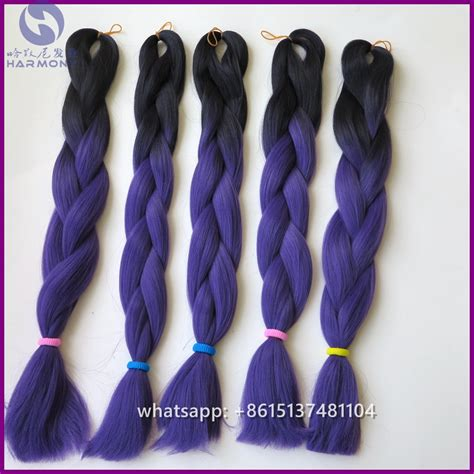 dark purple braiding hair free shipping 10pcs lot jumbo braid black and purple ombre