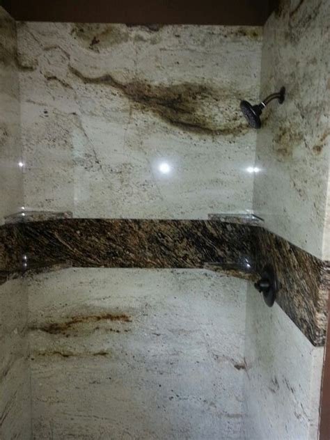 Bathroom Granite Walls Granite Shower Walls Colonial Granite Accented With