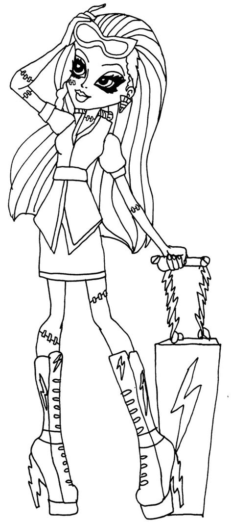 monster high coloring pages scaris frankie scaris by elfkena on deviantart