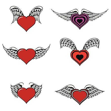 heart with wings tattoos with wings meaning