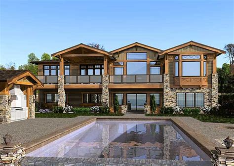 luxury craftsman house plans mountain craftsman home 23472jd craftsman mountain