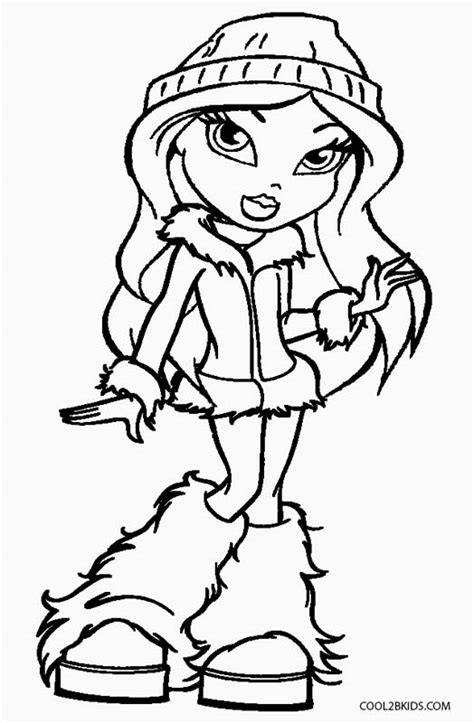 bratz coloring pages free printable bratz coloring pages for cool2bkids