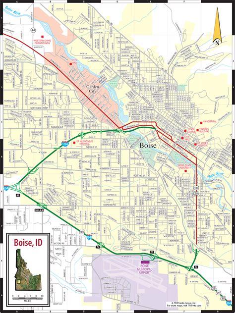 printable road map of idaho boise id map