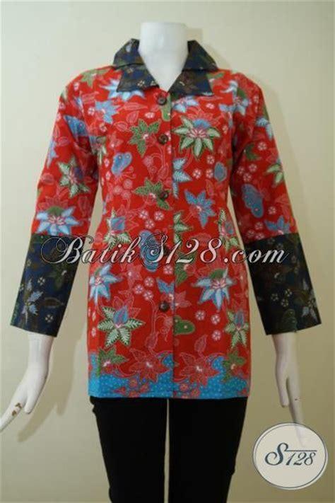 Blouse Batik Atasan Kantor Wanita Merah Maron Asli Pekalongan baju formal wanita about us blus batik mewah model paling