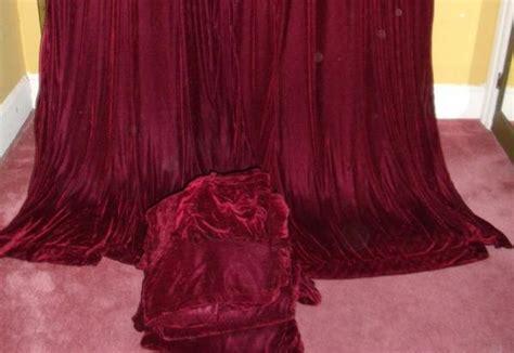 burgundy velvet drapes vintage victorian bohemian wine burgundy velvet drapes