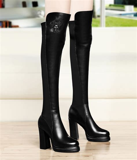 Sale Sepatu Gucci Led D7013 Murah black high heel knee boots gucciheaven original tamochi