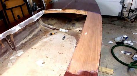 fiberglass boat deck repair boat building top deck fiberglass repair youtube