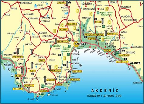 antalya map tourist attractions 14 top tourist attractions in antalya planetware