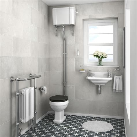 carlton traditional cloakroom suite high level toilet