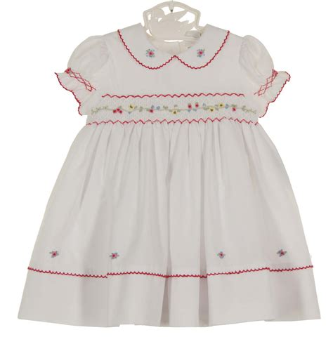 24440 Redwhiteyellow Roses Slim Dress louise white smocked dress with embroidered