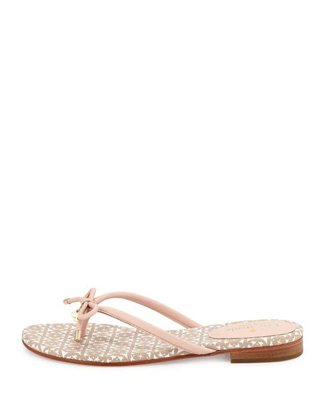 Genevieve Sandals By Kate Spade by Kate Spade New York Mistic Bow Flat Sandal Pale Pink
