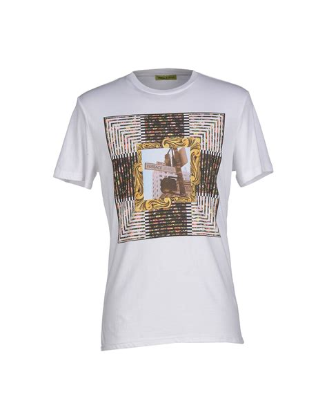 versace t shirt in white for lyst