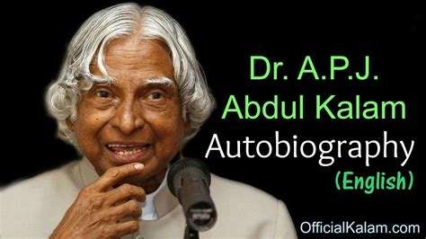 Abdul Kalam Biography In English Video | autobiography of dr apj abdul kalam in english youtube