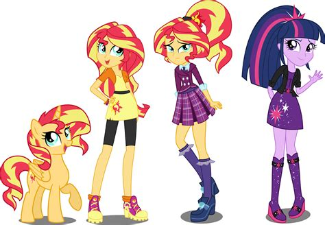 Simmer Vase Eqg Au Sunset Shimmer And Twilight Sparkle By Xebck My