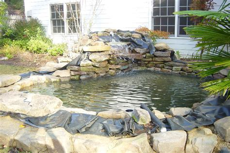 how to build a pool waterfall koi pond liners bloggerluv com