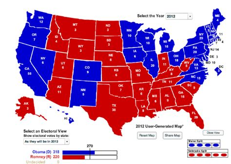 united states map of voting results the field the field projects the 2012 united states
