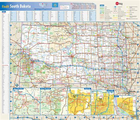 dakota map usa large detailed roads and highways map of south dakota