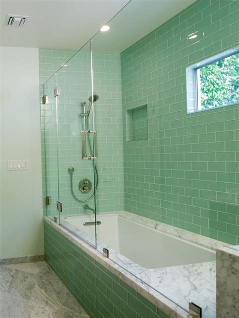 modern subway tile bathroom lush surft subway tile modern bathroom