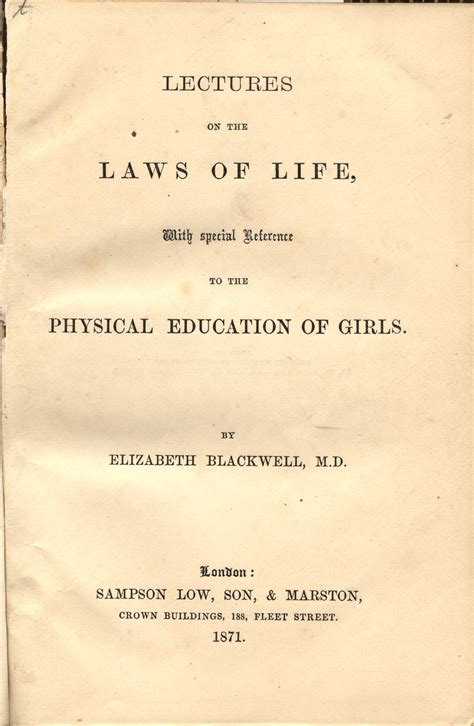 reference books for history of education elizabeth blackwell that there is doctor of