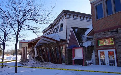Roof Collapse At The Mackinaw Crossings In Mackinaw City The House In Mackinaw City