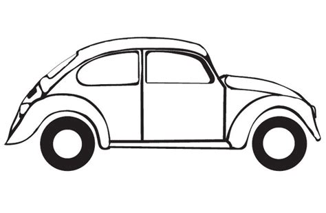 printable coloring pages vw bug patates