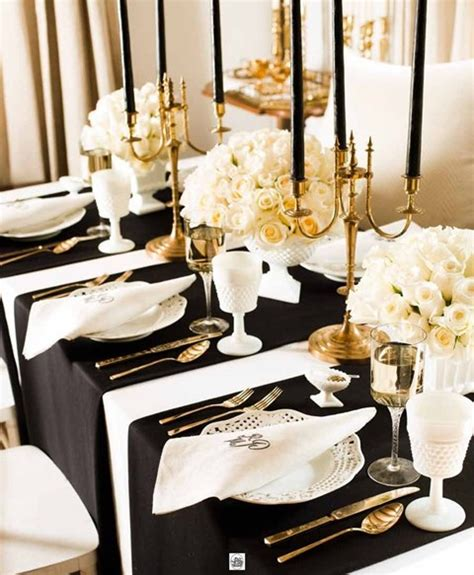 elegant table settings 58 elegant black and white wedding table settings