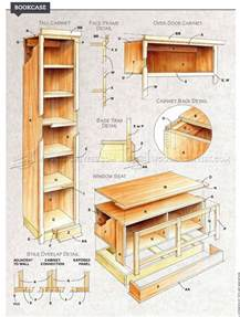 plans for built in bookcases built in bookcase plans woodarchivist