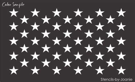 joanie stencil 50 stars wide flag usa patriotic american