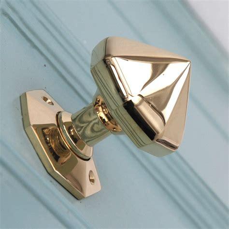 Brass Front Door Knob Solid Brass Pointed Octagonal Door Knobs