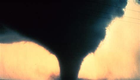 Tornado Black yellow sky