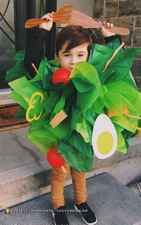 Coolest Handmade Costumes - deliciously healthy diy salad costume for my nephew