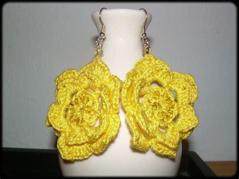 orecchini uncinetto fiore orecchini crochet fiore gioielli orecchini di cloe